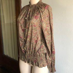 Ralph Lauren | Paisley Floral Button Down Blouse